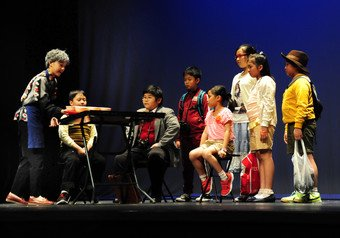 Students from 14 primary schools join a gala show as special performance of the night