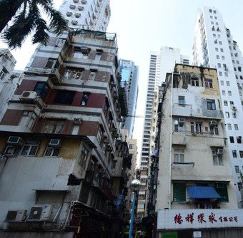 Existing view of Sung Hing Lane/Kwai Heung Street Development Project