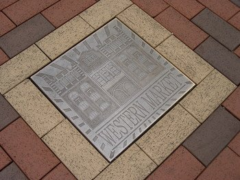 Bronze Plaque on the pavement